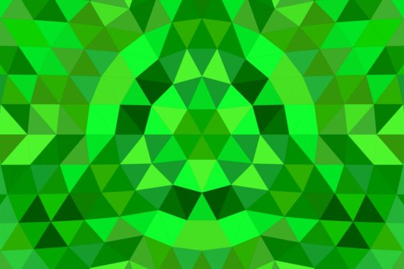 Download Free Green Triangle Mosaic Mandala Background Graphic By Davidzydd for Cricut Explore, Silhouette and other cutting machines.