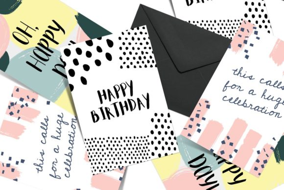 Download Free Greeting Card Template Set Graphic By Krisjanis Creative Fabrica for Cricut Explore, Silhouette and other cutting machines.