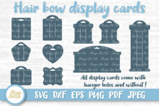 Hair Bow Cards Graphic Crafts By MagicArtLab
