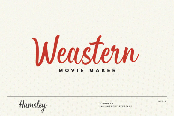 Download Free Hamsley Font By Sizimon Creative Fabrica for Cricut Explore, Silhouette and other cutting machines.
