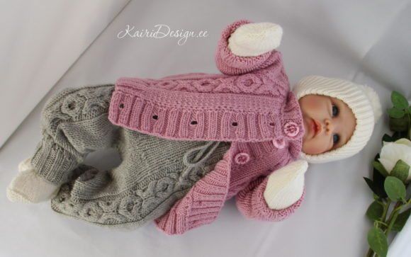 Hand Knitting Pattern - Baby Pants Graphic Download
