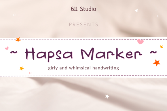 Download Free Hapsa Marker Font By 611 Studio Creative Fabrica for Cricut Explore, Silhouette and other cutting machines.