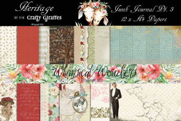 Download Free Blossoms Junk Journal Pt 3 Graphic By Wwdpaulymac2020 Creative for Cricut Explore, Silhouette and other cutting machines.