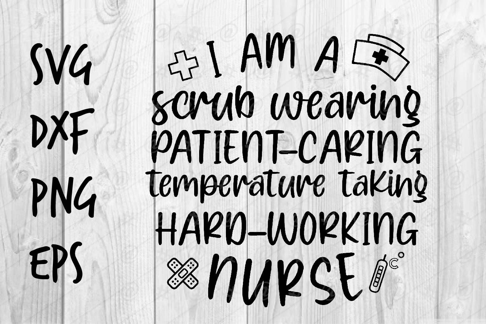Download Free I Am A Nurse Graphic By Spoonyprint Creative Fabrica SVG Cut Files