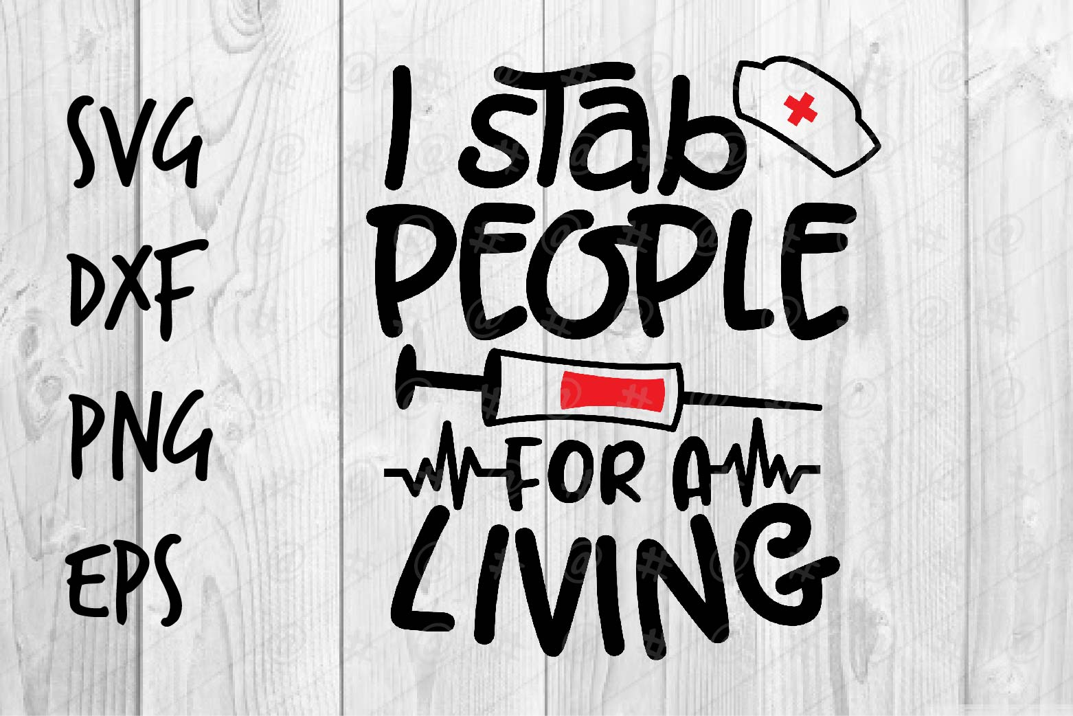 Download Free I Stab People Graphic By Spoonyprint Creative Fabrica for Cricut Explore, Silhouette and other cutting machines.