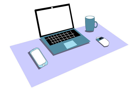 Print on Demand: Illustration of a Set of Laptops Graphic Illustrations By Yapivector