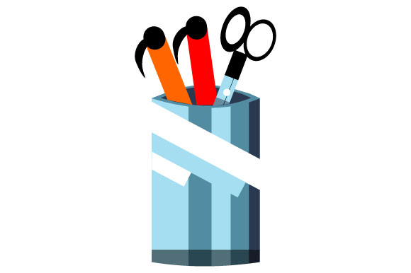Download Free Illustration Of Scissor Container Graphic By Yapivector for Cricut Explore, Silhouette and other cutting machines.