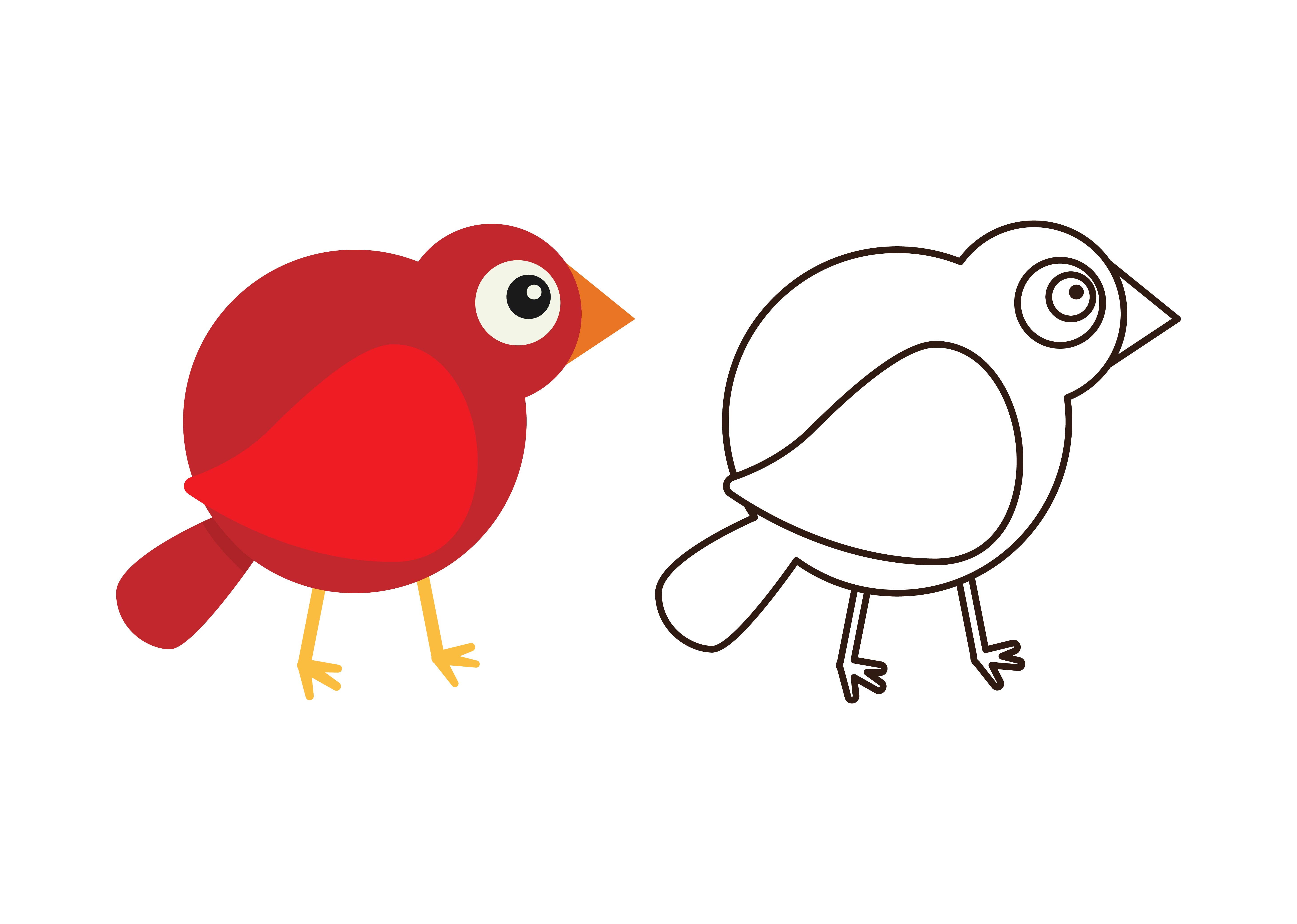 Download Free Kids Coloring Bird 6 Graphic By Studioisamu Creative Fabrica for Cricut Explore, Silhouette and other cutting machines.