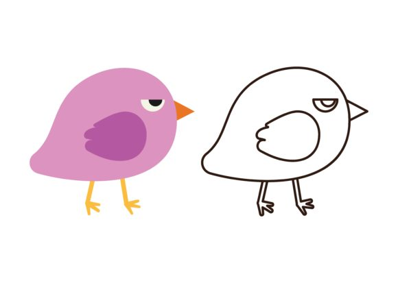 Download Free Kids Coloring Bird 8 Graphic By Studioisamu Creative Fabrica for Cricut Explore, Silhouette and other cutting machines.