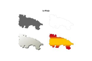 La Rioja Outline Map Set Graphic Illustrations By davidzydd