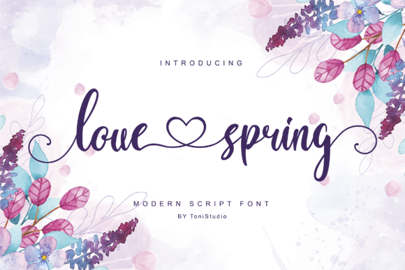 Download Free Love Spring Font By Tonistudio Creative Fabrica for Cricut Explore, Silhouette and other cutting machines.