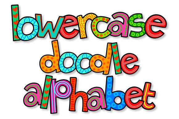 Print on Demand: Lowercase Doodle Alphabet Set 1 Grafik Illustrationen von Prawny