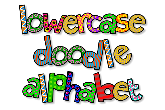 Print on Demand: Lowercase Doodle Alphabet Set 2 Graphic Illustrations By Prawny