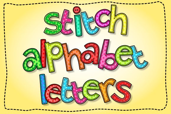 Print on Demand: Lowercase Stitch Alphabet Clipart Grafik Illustrationen von Prawny