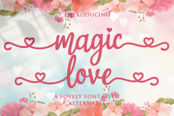 Print on Demand: Magic Love Manuscrita Fuente Por LetterBeary
