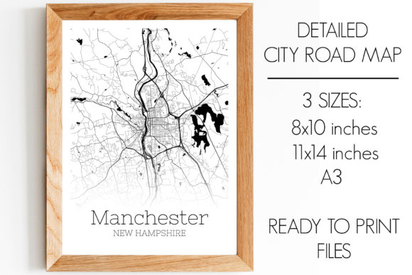 Download Free Manchester New Hampshire City Map Graphic By Svgexpress for Cricut Explore, Silhouette and other cutting machines.