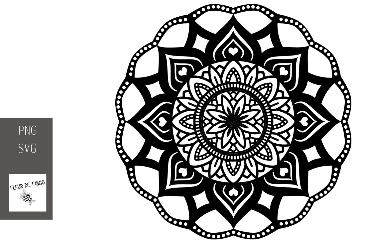 Download Free Mandala Design V 1 Graphic By Fleur De Tango Creative Fabrica for Cricut Explore, Silhouette and other cutting machines.