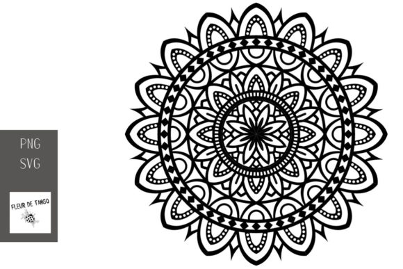 Download Free Mandala Design V 2 Graphic By Fleur De Tango Creative Fabrica for Cricut Explore, Silhouette and other cutting machines.