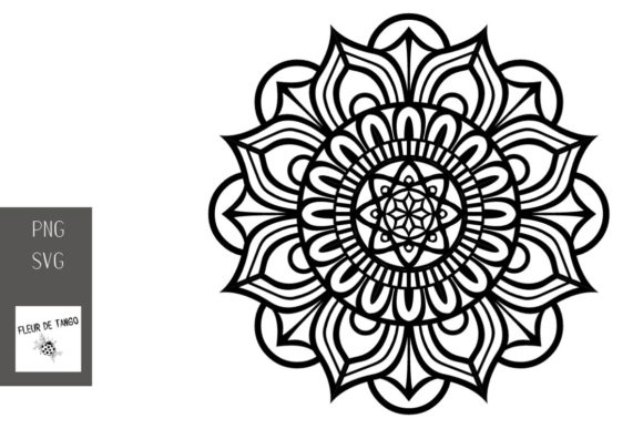 Download Free Mandala V 16 Graphic By Fleur De Tango Creative Fabrica for Cricut Explore, Silhouette and other cutting machines.