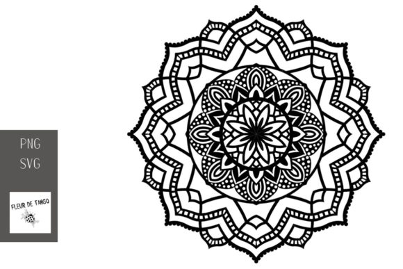 Download Free Mandala V 10 Graphic By Fleur De Tango Creative Fabrica for Cricut Explore, Silhouette and other cutting machines.