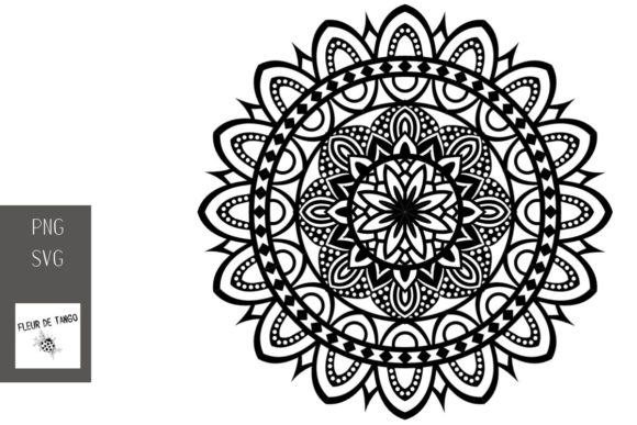 Download Free Mandala V 12 Graphic By Fleur De Tango Creative Fabrica for Cricut Explore, Silhouette and other cutting machines.