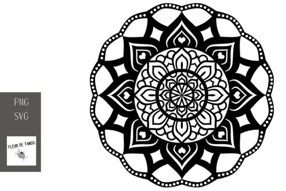 Download Free Mandala V 14 Graphic By Fleur De Tango Creative Fabrica for Cricut Explore, Silhouette and other cutting machines.