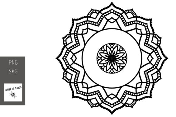 Download Free Mandala V 18 Graphic By Fleur De Tango Creative Fabrica for Cricut Explore, Silhouette and other cutting machines.