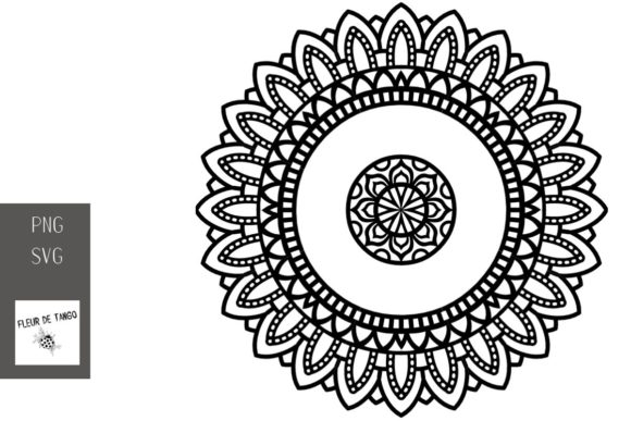 Download Free Mandala V 19 Graphic By Fleur De Tango Creative Fabrica for Cricut Explore, Silhouette and other cutting machines.
