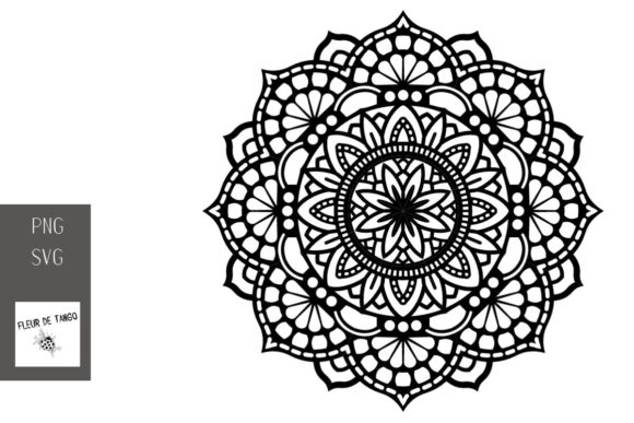 Download Free Mandala V 4 Graphic By Fleur De Tango Creative Fabrica for Cricut Explore, Silhouette and other cutting machines.