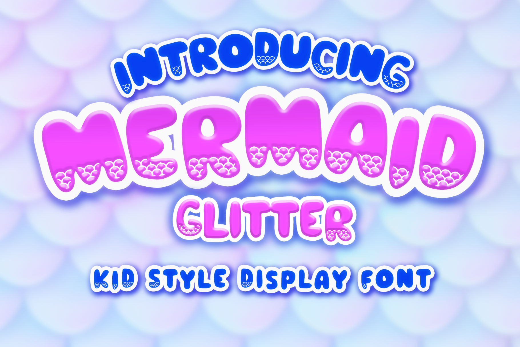 Download Free Mermaid Glitter Font By Numnim Creative Fabrica for Cricut Explore, Silhouette and other cutting machines.