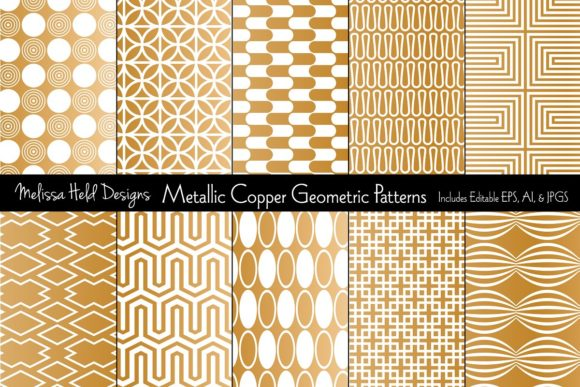 Download Free Metallic Copper Geometrics Graphic By Melissa Held Designs for Cricut Explore, Silhouette and other cutting machines.