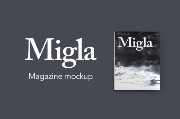 Download Free Migla Print Magazine Mockup Graphic By Krisjanis Creative Fabrica for Cricut Explore, Silhouette and other cutting machines.