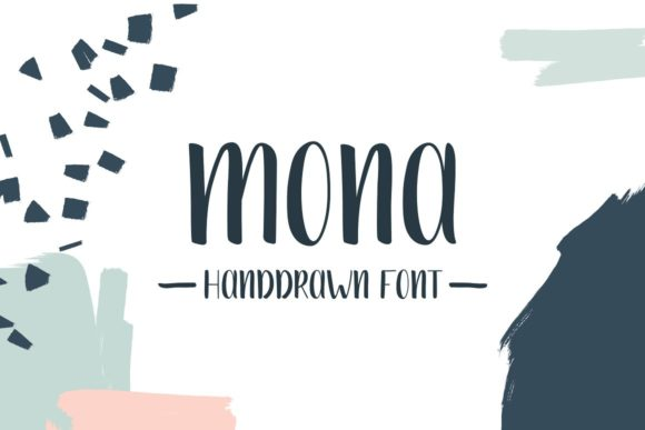 Print on Demand: Mona Script & Handwritten Font By krisjanis