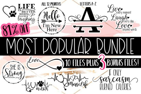 Download Free Most Popular Bundle Graphic By Reneescreativesvgs Creative Fabrica for Cricut Explore, Silhouette and other cutting machines.