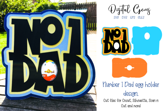 Download Free Number 1 Dad Egg Holder Father S Day Graphic By Digital Gems for Cricut Explore, Silhouette and other cutting machines.