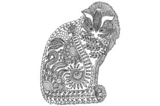 Ornamental Cat Cats Embroidery Design By BabyNucci Embroidery Designs