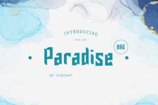 Print on Demand: Paradise 886 Display Font By fiqiart09