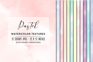 Pastel Watercolor Digital Papers Graphic Backgrounds By clipheartcreations