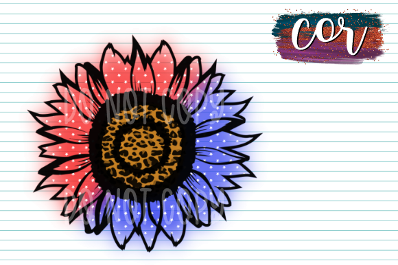 Print on Demand: Patriotic Sunflower Graphic Crafts By designscor