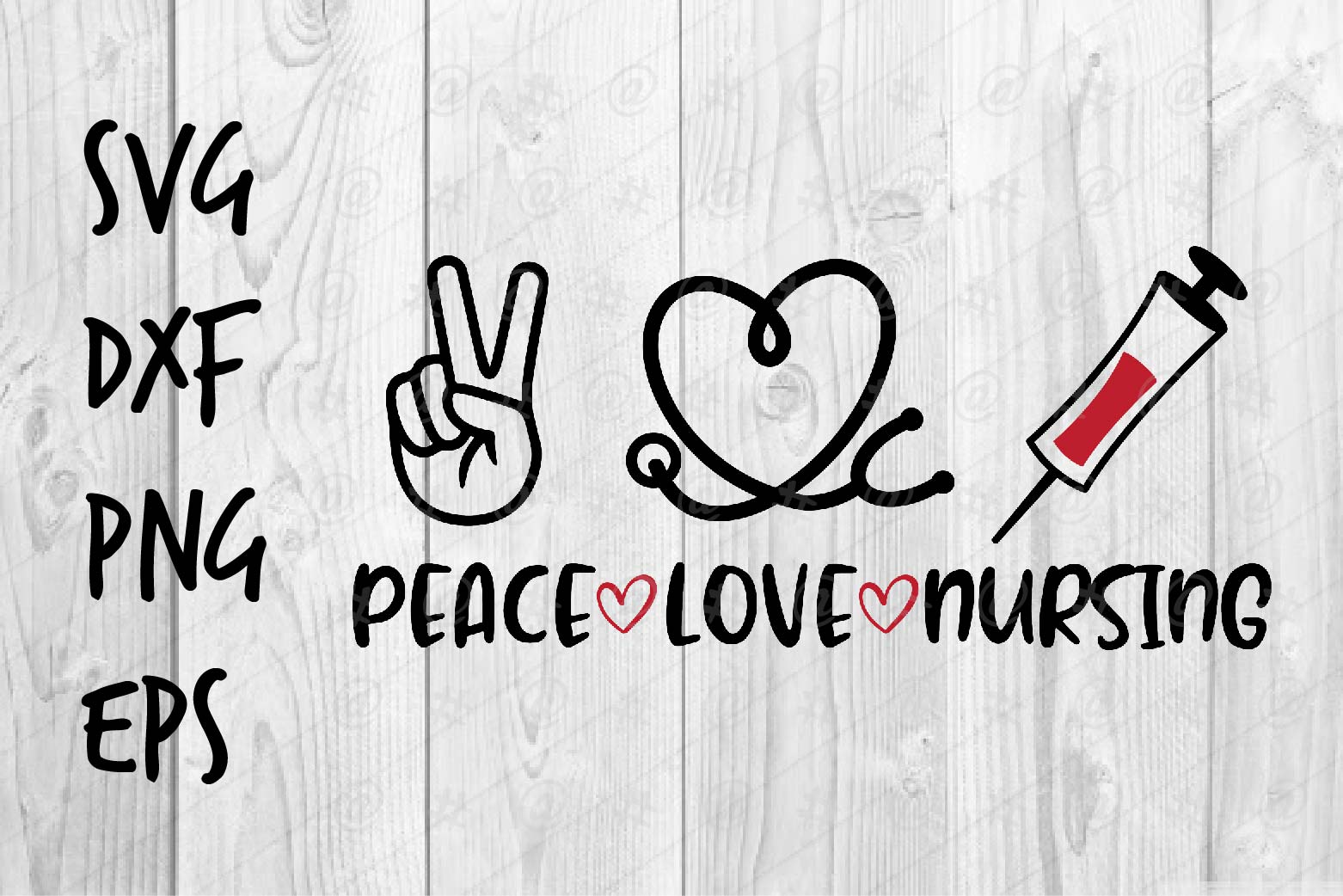 Download Free Peace Love Nursing Graphic By Spoonyprint Creative Fabrica for Cricut Explore, Silhouette and other cutting machines.