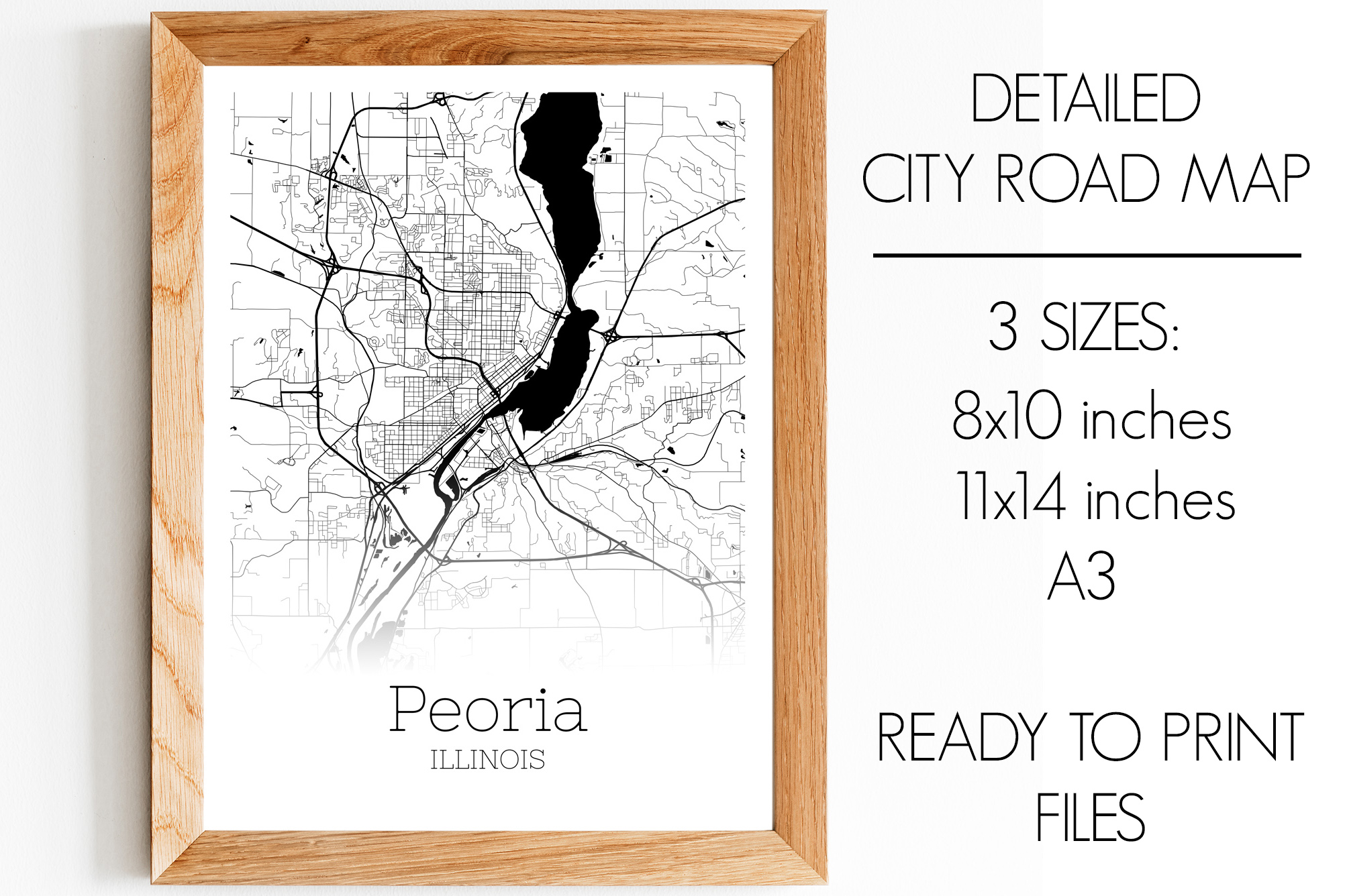 Download Free Peoria Illinois City Map Graphic By Svgexpress Creative Fabrica SVG Cut Files