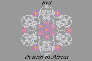 Pink Floral Quilt Block Sewing & Crafts Embroidery Design By Ovistin in Africa
