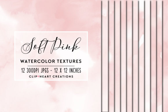 Pink Watercolor Digital Papers Graphic Backgrounds By clipheartcreations