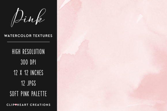 Download Free Pink Watercolor Digital Papers Graphic By Clipheartcreations for Cricut Explore, Silhouette and other cutting machines.