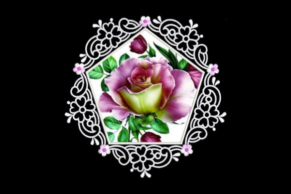 Pink & White Satin Applique Quilt Block Sewing & Crafts Embroidery Design By Ovistin in Africa - Image 1
