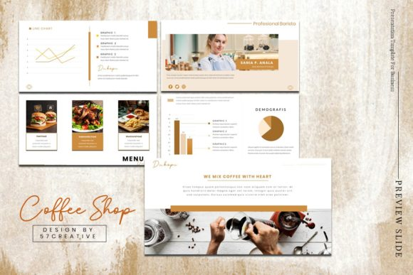 Download Free Presentation Tamplate Coffee Shop Graphic By Maju57creative SVG Cut Files