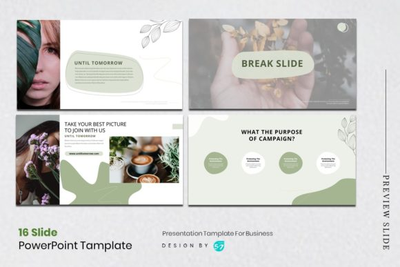 Download Free Presentation Tamplate Green Themes Graphic By Maju57creative for Cricut Explore, Silhouette and other cutting machines.