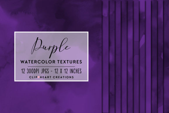 Purple Watercolor Digital Papers Graphic Backgrounds By clipheartcreations - Image 1