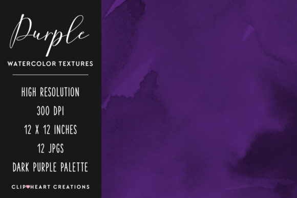 Purple Watercolor Digital Papers Graphic Backgrounds By clipheartcreations - Image 2
