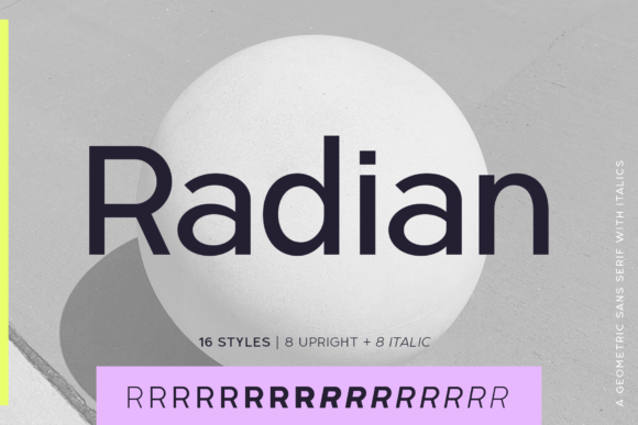 Print on Demand: Radian Sans Serif Font By Ayca Atalay